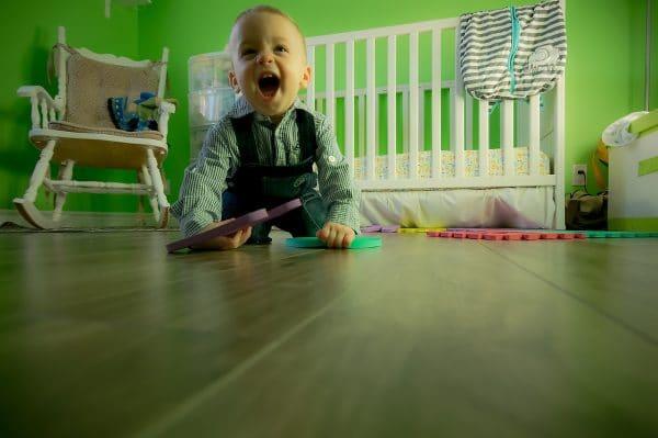 hardwood flooring is child-friendly
