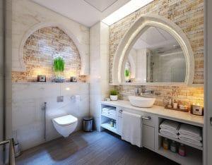 bathroom wood floor