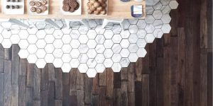 Wood and Tile Flooring Combination